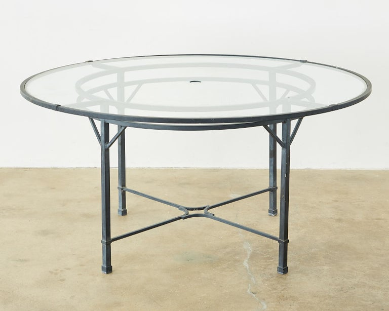 Neoclassical Brown Jordan Venetian Aluminum Patio Dining Tables
