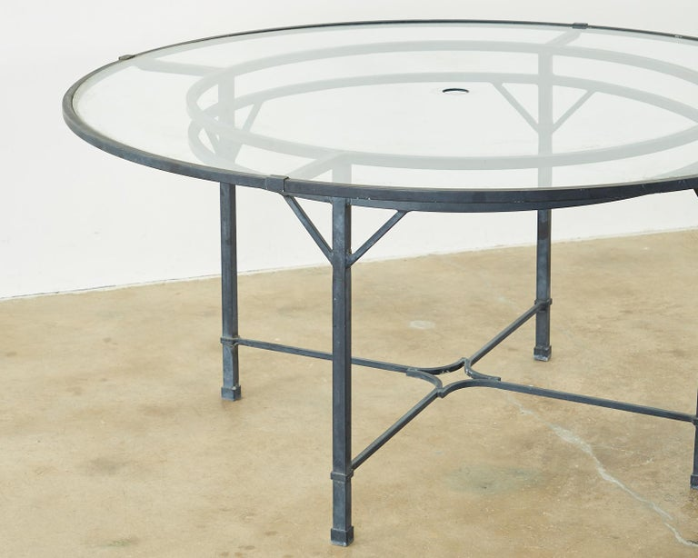 Contemporary Brown Jordan Venetian Aluminum Patio Dining Tables