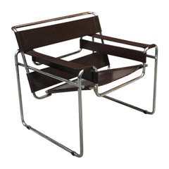 Brown Leather B3 Wassily Armchair by Marcel Breuer for Gavina, 1968