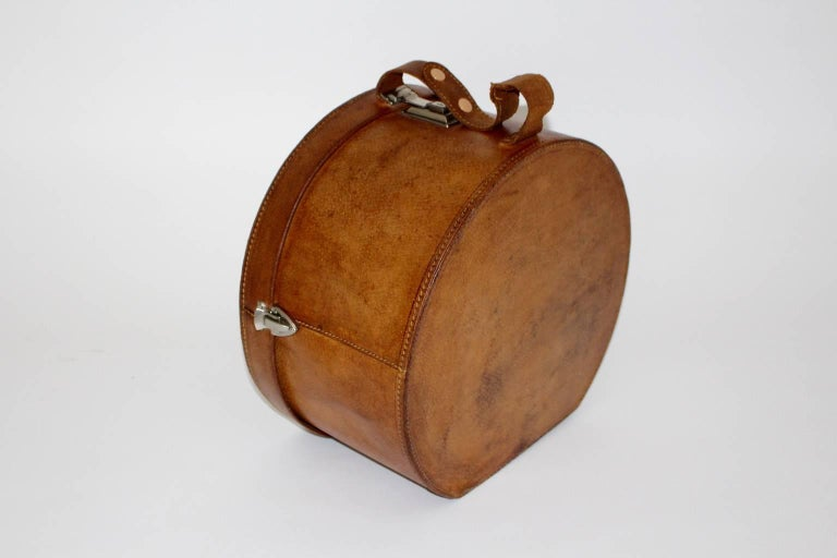 Mid-Century Modern Mid Century Modern Vintage Brown Leather Case Austria, circa 1950 For Sale