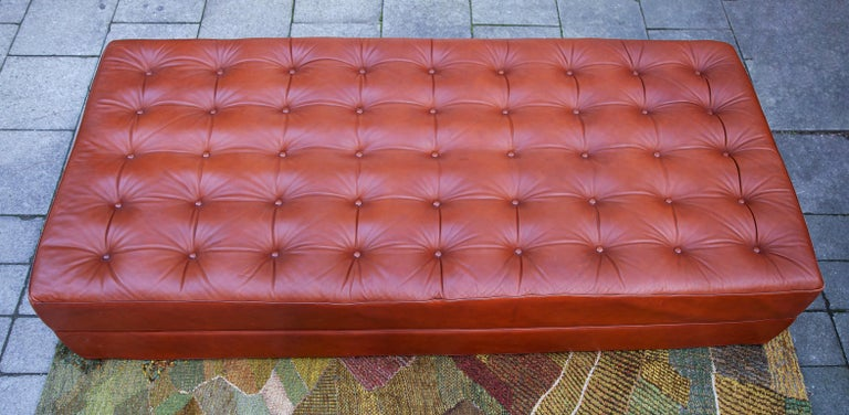 Mid-Century Modern Brown Leather Daybed by Kill International Attributed to Horst Brüning For Sale