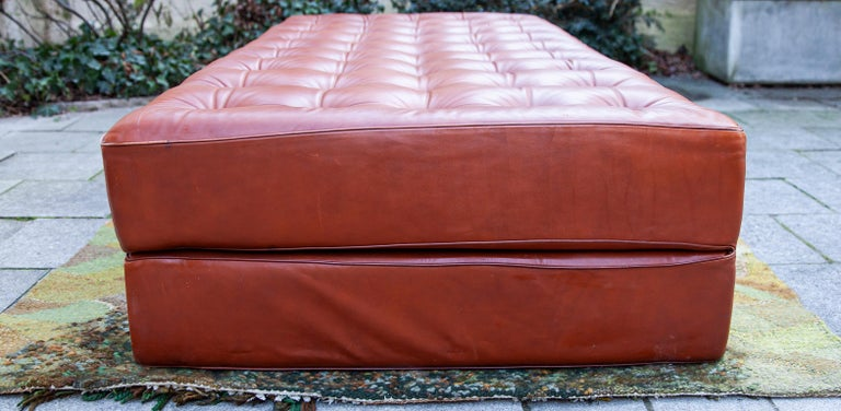 German Brown Leather Daybed by Kill International Attributed to Horst Brüning For Sale