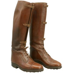 Brown Leather Field Boots