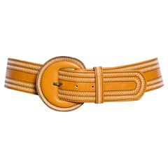 Brown Leather Yves Saint Laurent Cowgirl Belt