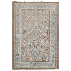 Brown Light Rust Antique Scatter Size Persian Rug