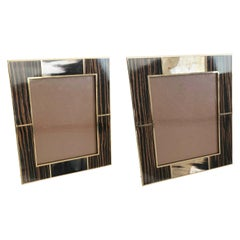 Brown Macassar with Buffalo Horn Photo Frames by Fabio Ltd
