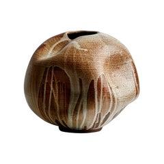 Brown Mid-Century Modern Handmade Ceramic Vase / Interior Sculpture / Stoneware