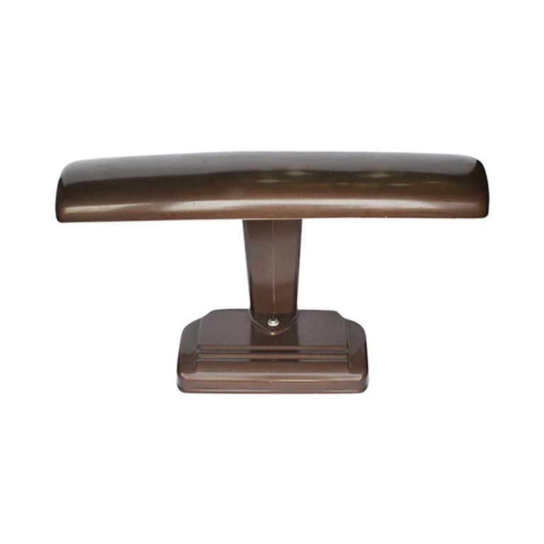 Brown Mid-Century Modern Metal Desk Library, Desk or Task Lamp in Brown For Sale