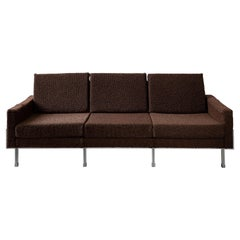 Brown Mid-Century Modern Three-Seat Sofa