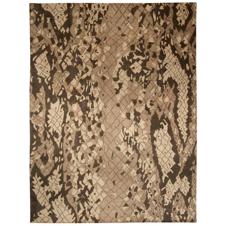 Brown Miraje Design Rug For Sale