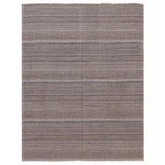 Brown Modern Persian Kilim Rug. Size: 5 ft. 4 in x 6 ft. 10 in