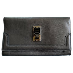 Brown Mulberry Natural Leather Clutch Bag