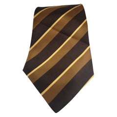 Brown multicoloured tie