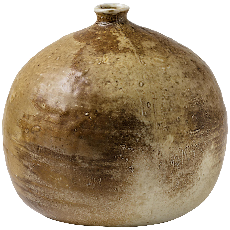 Brown Porcelain Ceramic Vase by Pierre Digan, La Borne, circa 1960-1970