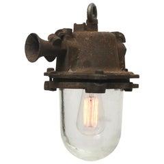 Brown Rust Iron Vintage Industrial Pendant Lamp