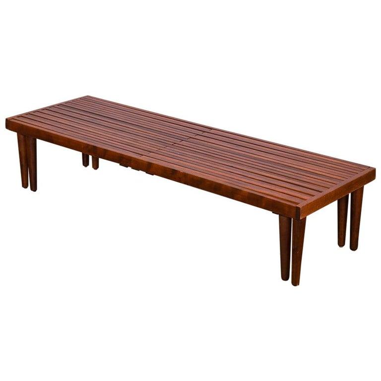 Brown Saltman Expandable Slat Bench For Sale At 1stdibs