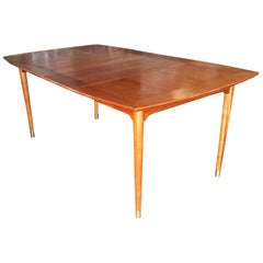 Brown Saltman Mahogany Extendable Dining Table by John Keal
