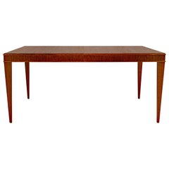 Brown Saltman Three Leaf Dining Table by Paul Frankl