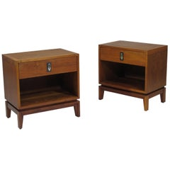 Brown Saltman Walnut Nightstands