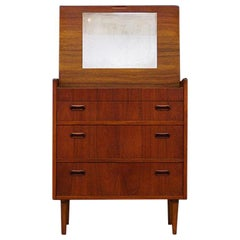 Brown Secretaire Teak 1960s Danish Design Classic