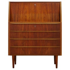 Brown Secrétaire Teak Danish Design 1970s Retro Classic