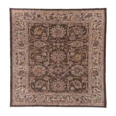 Brown Square Persian Sultanabad Carpet