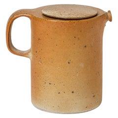 Brown Stoneware Ceramic Tea Pot  1970 20th Century Design