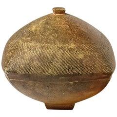 Brown stoneware Decorative Ceramic Boxe Designed by Steen Kepp La Borne, 1975