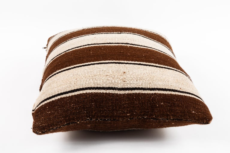 Brown Striped Peruvian Pillow In Good Condition For Sale In Chicago, IL