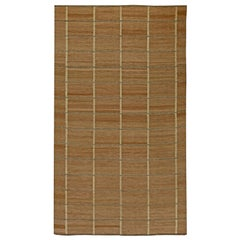 Brown Swedish Inspired Flat-Weave Rug