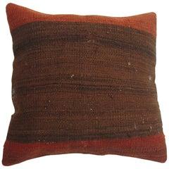 Brown Terracotta Kilim Turkish Pillow