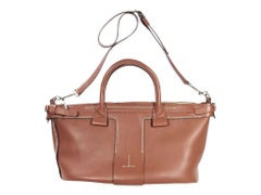 Brown Theory Leather Satchel