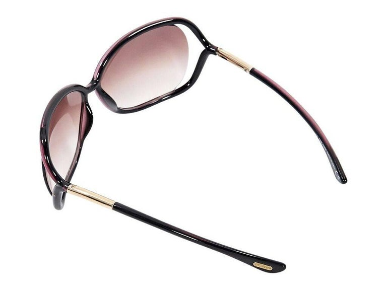 519322d286 Brown Tom Ford Rectangular Sunglasses In Good Condition For Sale In New  York