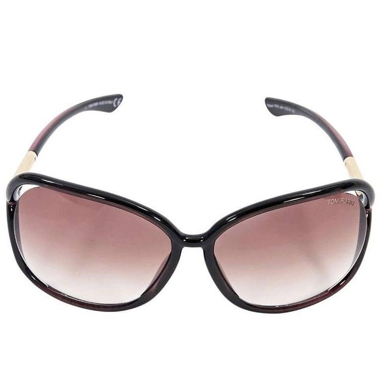 Brown Tom Ford Rectangular Sunglasses
