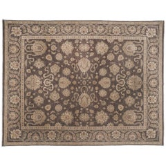 Brown Traditional Pakistani Floral Area Rug
