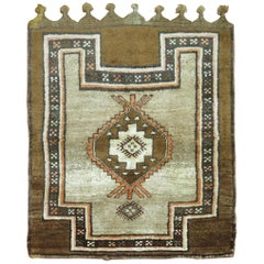 Brown Turkish Tribal Square Scatter Size Square Rug