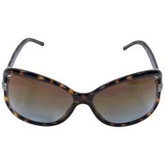 Brown Valentino Tortoise Rectangular Sunglasses