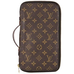 Brown Vintage Louis Vuitton Monogram Travel Portfolio