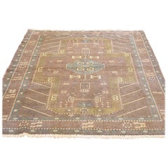 Brown Vintage Persian Baluch Pure Wool Hand Knotted Oriental Rug