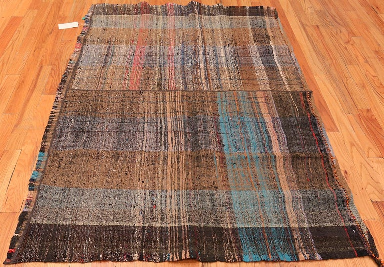 Brown Vintage Persian Kilim Rug. Size: 5 ft x 6 ft 9 in For Sale 1