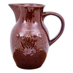 Brown Vintage Porcelain Jug