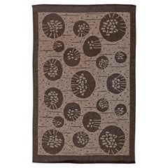 Brown Vintage Swedish Double Sided Flat-Weave by Orsa