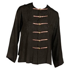 Brown Vintage Yves Saint Laurent Rive Gauche Top