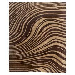 Brown Wind Tibetan Design Area Rug