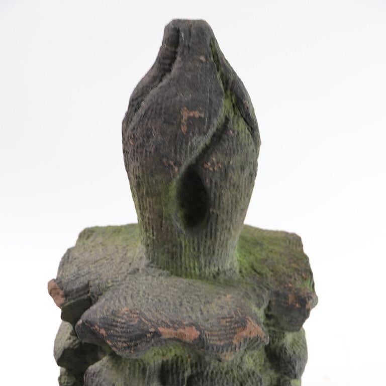 Brownstone Building  Finial Fragment in Moss Finish  In Good Condition For Sale In New York, NY