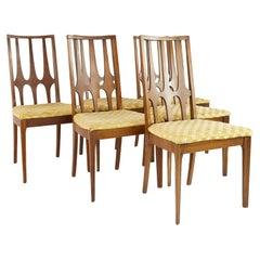 Broyhill Brasilia Mid Century Walnut Dining Chairs, Set of 6