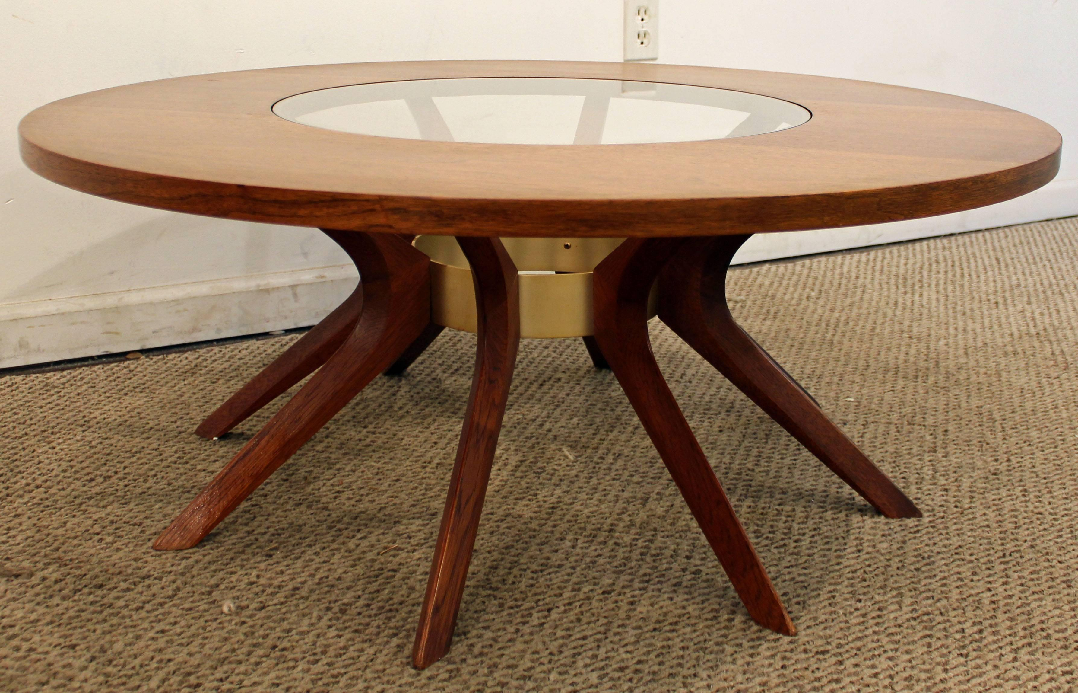 This Piece Was Made By Broyhill Brasilia. It Has A Walnut Base With A  Removable