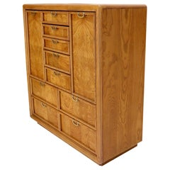Broyhill Multidrawer Gentleman's Chest Dresser w/ Two Doors Compartments