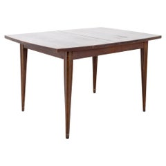 Broyhill Saga Mid Century Dining Walnut Surfboard Dining Table