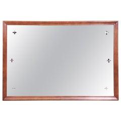 Broyhill Saga Mid-Century Modern Walnut Framed Wall Mirror